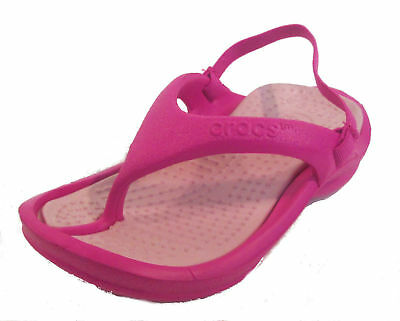 Infant Kids Croc Sandals- Kids Athens- Fuchsia/Cotton Candy - UK INF C8/9