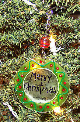 Fused Glass, MERRY CHRISTMAS Ornament (Reasons to Rejoice by Enesco 4025121)
