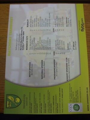 01 01 2002 COLOUR Teamsheet Norwich City v Walsall Any faults with