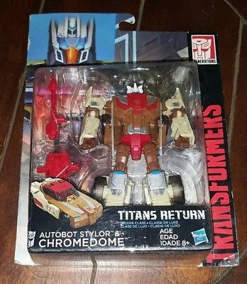 Transformers Generations:Deluxe Class-Titans Return - AUTOBOT STYLOR/CHROMEDOME