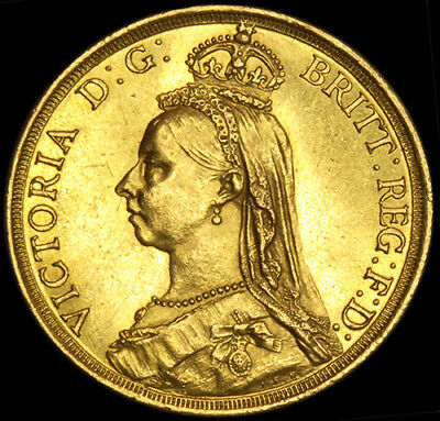 QUEEN VICTORIA 1887 £2 GOLD SOVEREIGN..... Near Uncirculated...