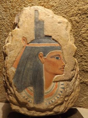 Isis - Egyptian art - Goddess of magic , mothers. Relief sculpture fragment