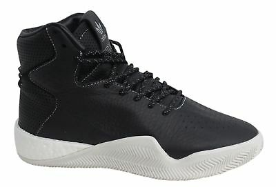 5df489f093d Adidas Tubular Instinct Boost Lace Up Hi Black Leather Mens Trainers BB8401  M16
