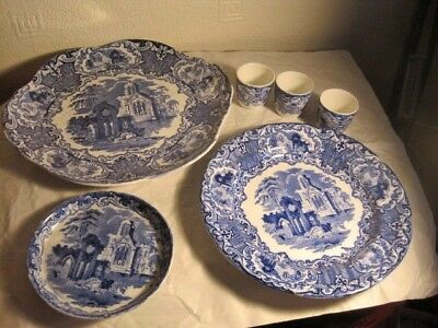 Small Selection 0F 6 George Jones Abbey Pattern  Pottery Items