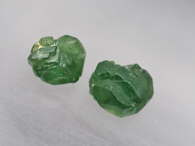 RT - 2 x DEMANTOID GRANAT DEMANTOIDE GARNET NAMIBIA KRISTALL  12.06+8,95  CT