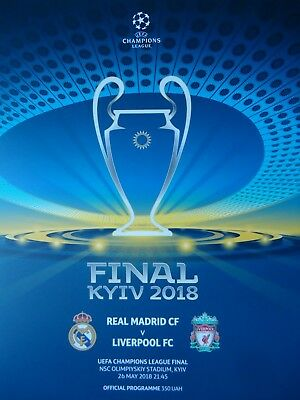 off. Programm UEFA CL Finale 26.5.2018 Real Madrid - Liverpool FC in Kiew