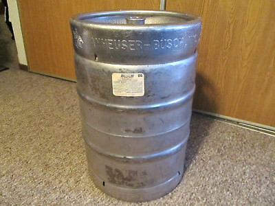 Anheuser Busch - Empty 15.5 Gallon Stainless Steel Beer Keg. ( Pick Up Only)