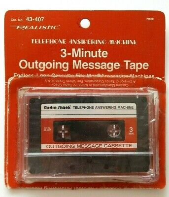 Realistic Telephone Answering Machine Outgoing Message 3-Minute Endless Tape