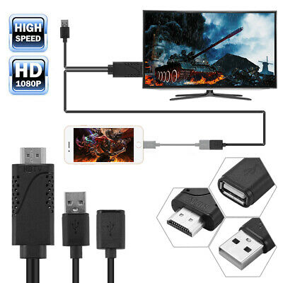 Mini Micro USB 2.0 MHL To HDMI Converter Adapter Cable 1080P For Phones AC1075