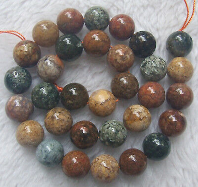 """6mm 8mm 10mm 12mm Natural Ocean Agate Round Loose Beads 15"""""""