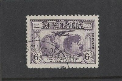 1931 Australia Kingsford Smith's World Flights SG 123 6d violet CTO