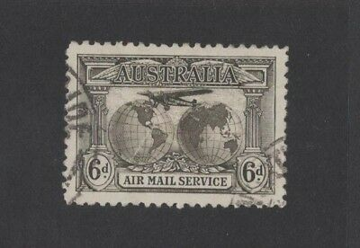 1931 Australia Kingsford Smith's World Flights SG 139 6d sepia fine used