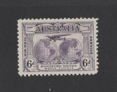 1931 Australia Kingsford Smith's World Flights SG 123 6d violet mlh