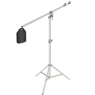 """Neewer Photo Studio 2-in-1 Light Stand 48.4-151.5"""" with 85"""" Boom Arm and Sandbag"""