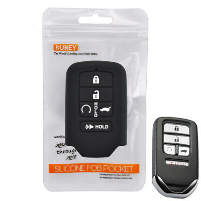 Silicone Key Cover Remote Case  Fob For Honda Civic Accord CR-V Fit Pilot 16-18