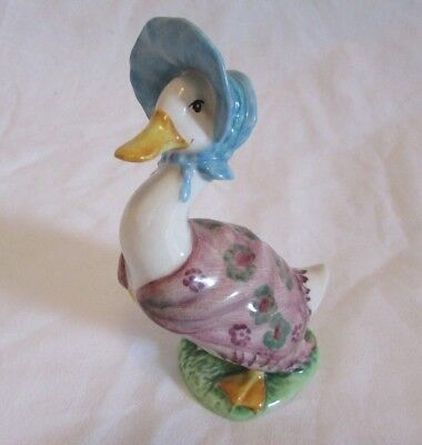 Beswick Beatrix Potters Jemima Puddleduck  Bp2  Gold Oval  Copyright Above