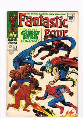 Fantastic Four # 73  DD ! Thor ! Spider-Man !  grade 6.5 scarce book !!