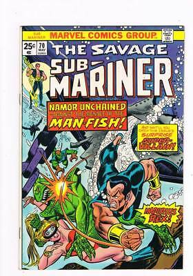 Sub-Mariner # 70 Menace of the Man-Fish ! grade 8.5 scarce book !!