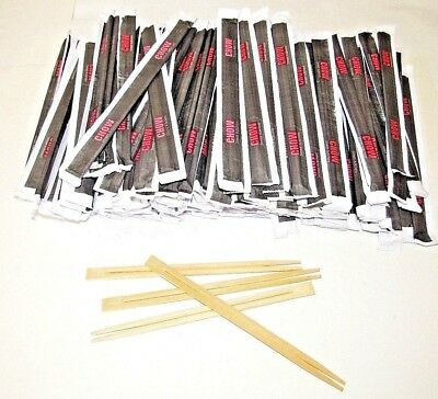 10 - 100 Pairs Wooden Bamboo Chopsticks Chinese Food Chop Sticks Stir Fry Party