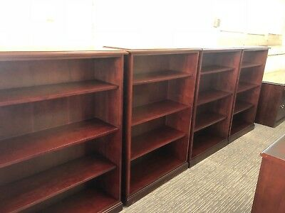 "36""W x 14""D x 53""H Traditional bookcase by Kimball office furn in Mahogany wood"