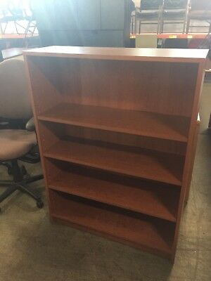 "BOOKCASE by HON OFFICE FURNITURE in CHERRY COLOR LAMINATE 49"" H"