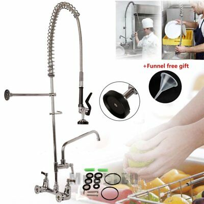 "8""Center Commercial Kitchen Restaurant Pre-Rinse Faucet Swivel 12"" Add-On Faucet"