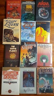 Vintage SCI-FI FANTASY Lot of 12 HBDJ 1st Edition UNREAD FREE SHIPPING