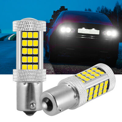 2PCS 1156 P21W 2835 SMD 66 LED Bulb White Car Backup Reverse Light DC 12V LD1166