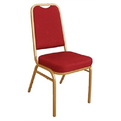 Bolero Squared Back Banqueting Chair Red (Pack of 4) Conference Wedding DL016