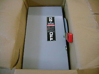 NEW GE HEAVY DUTY SAFETY SWITCH TH3222 60 AMP 240V/240 Volt Disconnect 2 pole