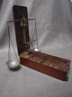 19 c. Antique French  APOTHECARY  folding  scale
