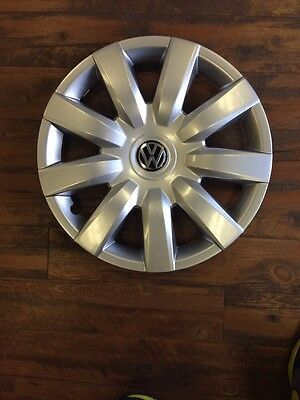 """4- 15"""" Vw Jetta Golf Wheel Covers 2010 2011 2012 2013 Hubcaps Aftermarket"""