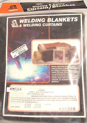 Welding Curtain 14 Mil NEW STEINER 6'x6' Grey  33266 Blanket