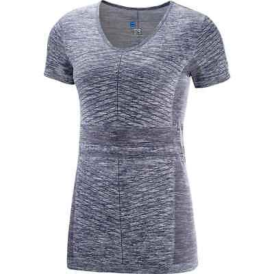 Salomon 2018 Women's Elevate Move'On Short Sleeve Tee - Graphite - L40216200