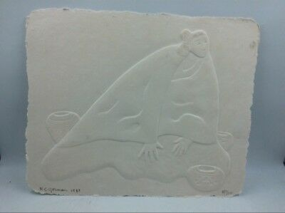 Rc Gorman Intaglio, Paper Cast, Signed & Dated (S21018576)