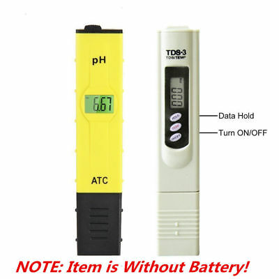 Digital TDS Tester PH Meter Tester Hydroponic Pool Water Aquarium Pocket Monitor