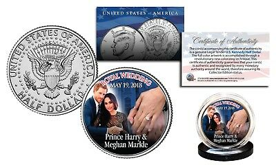 PRINCE HARRY & MEGHAN MARKLE Royal Wedding Dated May 19, 2018 Official JFK Coin