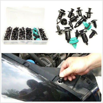 120Pcs Plastic Screw Rivets Fixed Clamp Fastener Clips For Car Door Panel Bumper