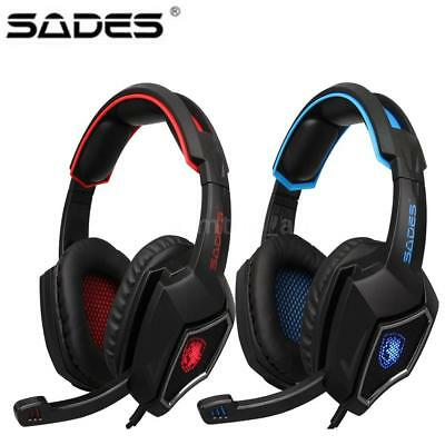 SADES R9 3.5mm Stereo Pro Gaming Headphone Headset MIC LED for PS4 Xbox One PC