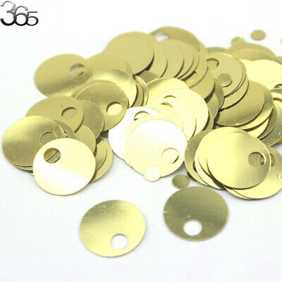 20mm Large Hole Flat Round Handmade Clothing Accessories Sequins Beads 500 Pcs