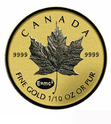 Canada $ 5 Maple Leaf Gold 1/10 oz 2015 Privy Einstein