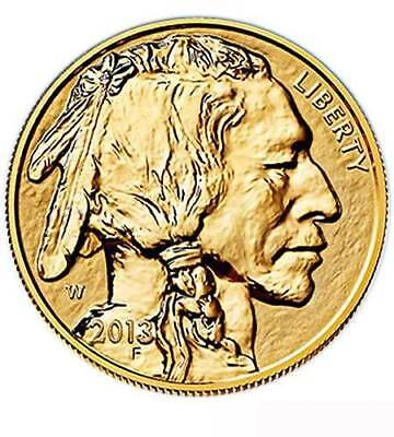 USA $ 50 Gold Buffalo 2013 1 oz PP Reverse Proof