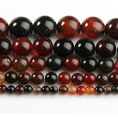 5/10/20/30/40Pc Natural Carnelian Round Gemstone Loose Spacer Stone Beads 4-12mm