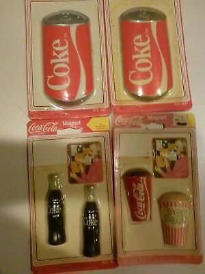 Coca Cola Brand Magnets-- Cups, Cans & Bottles (Unopened) Choice