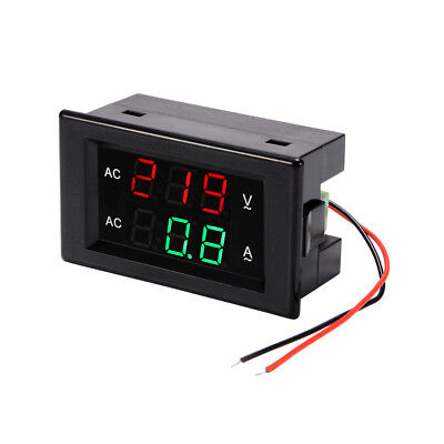 Digital Voltmeter Ammeter AC 60-300V 100A Voltage Ampere Multimeter Volt Tester