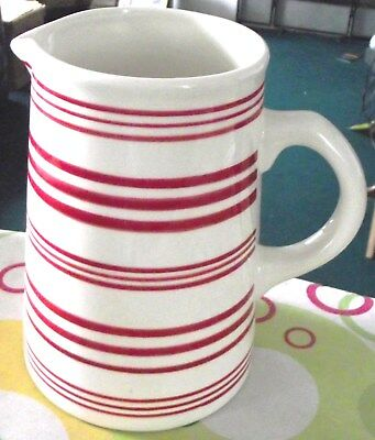Laura Ashley - Large Milk Jug - Red & White Striped