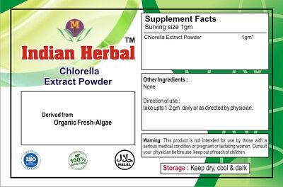 Organic Chlorella Extract Powder Protein Vitamins Cholrophyll 1