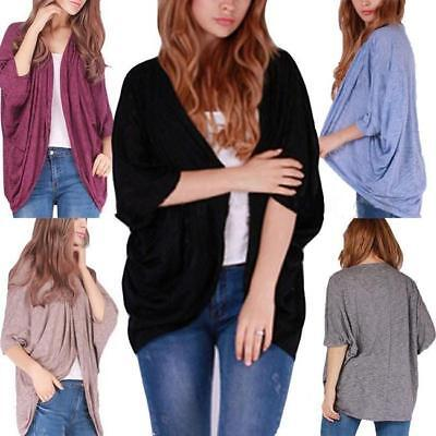 2018 Women's Batwing Top Poncho Knit Cape Cardigan Coat Knitwear Sweater Jacket