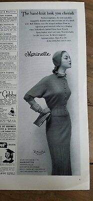 1951 Marinette women's hand-knit look dress hat Veil Jean Patchett ad