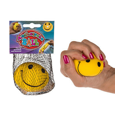 6 er Set Anti Stress Ball Smiley Emoji Smilie Knetball Knautschball Frust Bälle